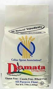 Domata Living Gluten-Free All Purpose Flour, 4 Pound (Pack of 4) by Domata Living