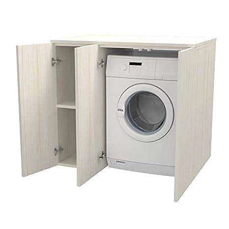 Ve.Ca. Mobile lavanderia con ante Riga 105 cm in legno ...