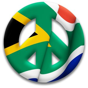 Amazon.com: Peace Symbol Permanent Sticker of South Africa Meyoto ...
