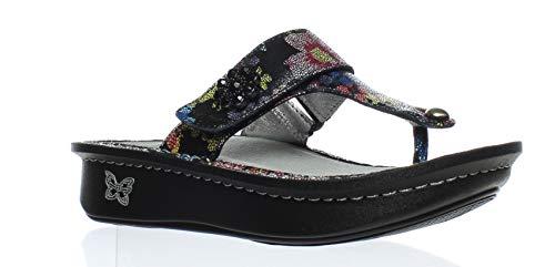 (Alegria Womens Carina Wedge Thong Sandal Noche Flora Size 35 EU (5-5.5 M US Women) )