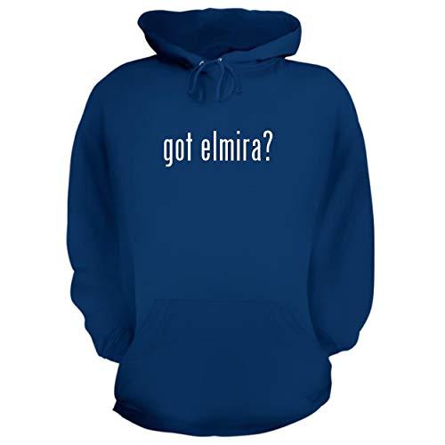 (BH Cool Designs got Elmira? - Graphic Hoodie Sweatshirt, Blue,)