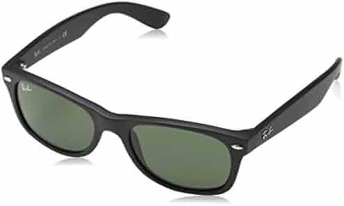 Ray-Ban New Wayfarer Sunglasses Matte Black RB2132 622 52