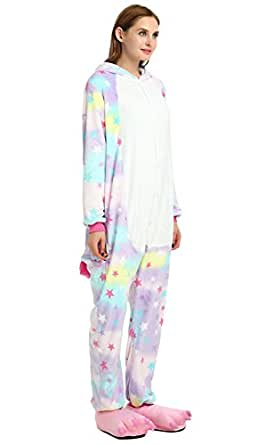 Famycos One-piece Animal Costumes Pajama for Unisex Family School Cosplay Party Star Unicorn Kids-5