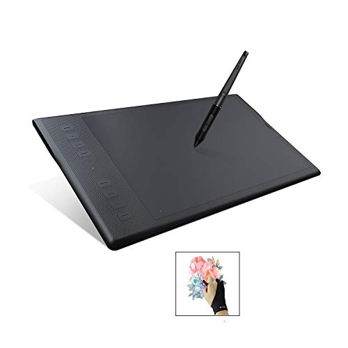 Huion INSPIROY Q11K V2 Wireless Digital Graphics Drawing Pen Painting Tablet with Tilt Feature Battery-Free Stylus 8192 Levels of Pressure 8 Express Keys