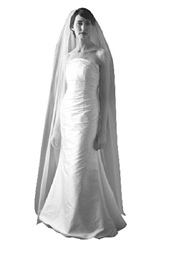 Shop-Ginger-Wedding-1-Tier-Chapel-Bridal-Veil-Cut-Raw-Edge