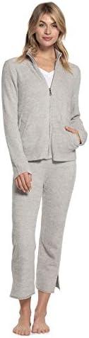 Barefoot Dreams CozyChic Lite Women\u2019s Heather Zip-Front Jacket Comfortable Zipper Sweater Travel Sweatshirt / Barefoot Dreams CozyChic Lite Women\u2019s Heather Zip-Front Jacket Comfortable Zipper Sweater Travel Sweatshirt
