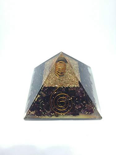 Extra Large Garnet Orgonite 70-75Mm Orgone Gemstone Pyramid X-Large