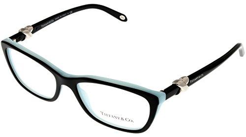 Tiffany & Co. Women Eyeglasses Designer Black Rectangular TF2074 - 8055 Eyeglasses Tiffany