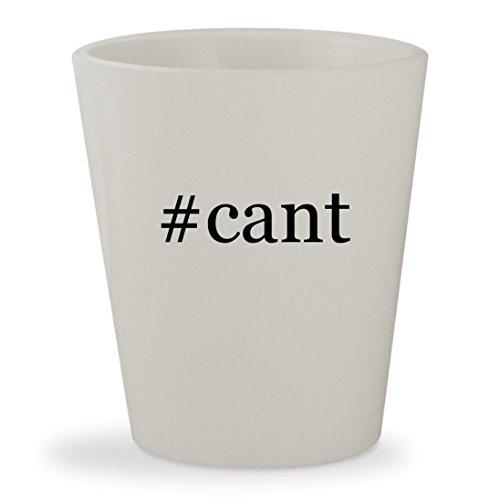 #cant - White Hashtag Ceramic 1.5oz Shot Glass (Man Jump Ray Cant White Blu)