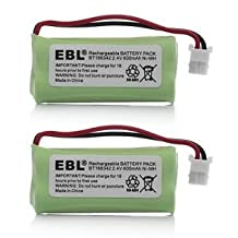 2 Pack of AT&T BT183342 Battery - Replacement for AT&T Cordless Phone Battery (Type B Connector)