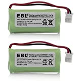 2 Pack of AT&T EL52213 Battery - Replacement for AT&T Cordless Phone Battery (800mAh, 2.4V, NI-MH)