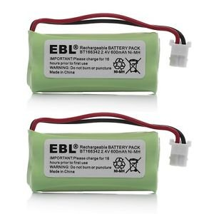 2 Pack of VTech CS6529-2 Battery - Replacement for VTech Cordless Phone Battery (Type B Connector) Olympia Battery BT183342-2pack-489