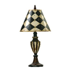 Dimond 91-342 Harlequin Table Lamp, 1-Light 150 Watts, Antique White (Harlequin Traditional Table Lamp)