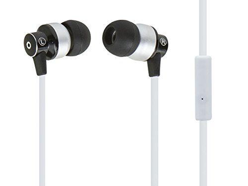 monoprice-hi-fi-reflective-sound-technology-earbuds-headphones-w-microphone-white-silver-112236