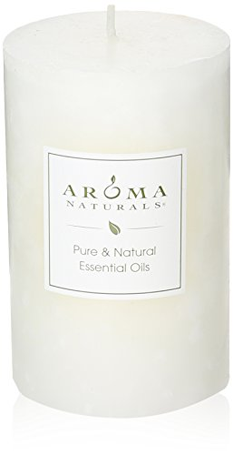 Aroma Naturals Patchouli and Frankincense Essential Oil White Scented Pillar (Meditation Aromatherapy)