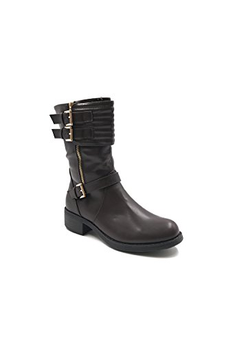 CHIC Biker Brown Women's NANA Boots XwXrE