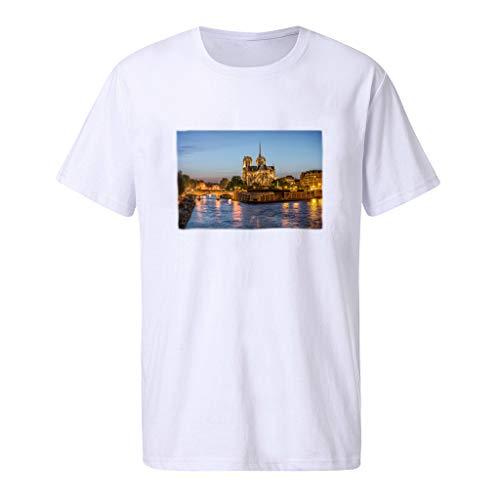 Fashion Summer Men's Printing Tees T-Shirt Short Sleeve Tops Blouse