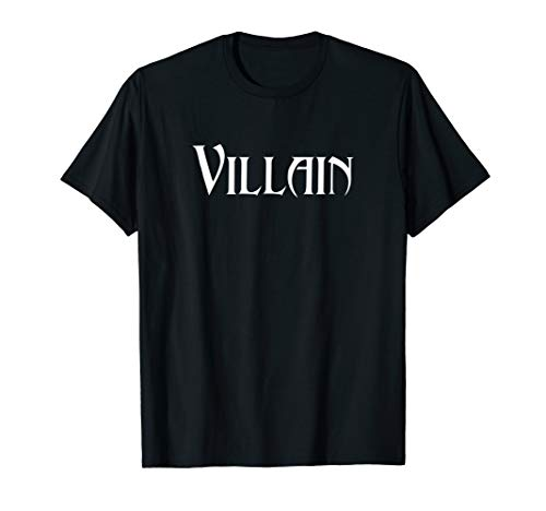 Villain Halloween Costume Shirt -