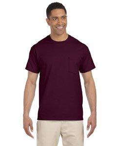 Cotton Adult Pocket T-shirt - Gildan Adult Ultra CottonTM T-Shirt with Pocket G2300 - Maroon_XL
