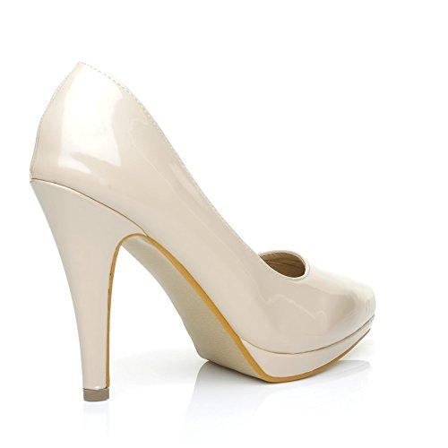 Stiletto Talon Brevet Uk Plateforme Cuir Nu Chaussures Pu Pointues Emma Shuwish Haut YAwqUYZ