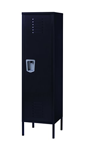 (Office Dimensions Personal Locker Storage Cabinet, Black)