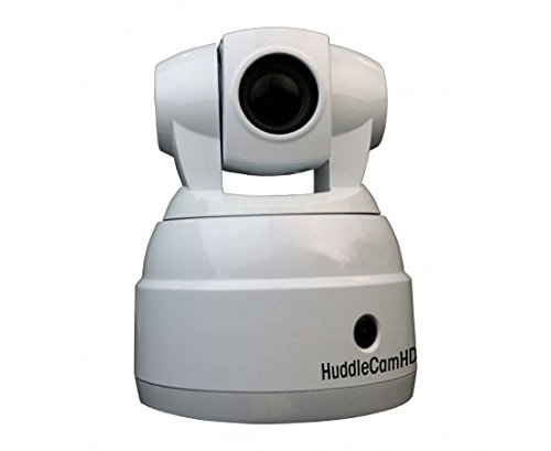 HuddleCamHD - HC-SIMPLTRACK-CM - Auto-Tracking | 20X Optical Zoom | IP Streaming, 3G-SDI | 60 FOV (White) | Control Software only available in English | Includes Ceiling Mount | US Style Power; Coming