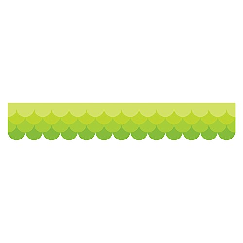 Creative Teaching Press Ombre Lime Green Scallops Borders (0181)