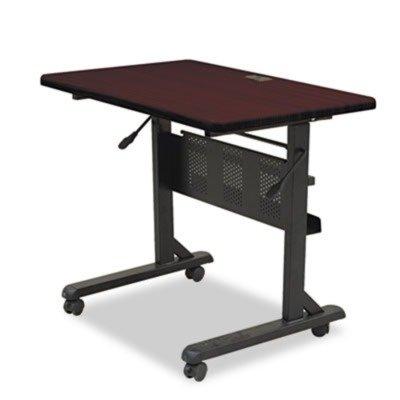 36amp;quot; W Flipper Training Table Color: Mahogany