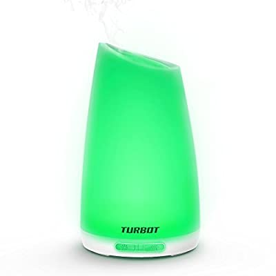 Turbot Aromatherapy Essential Oil Diffuser,Portable Aroma Ultrasonic Cool Mist Humidifier with Auto Shut-off,7 Colors LED Lights for Home Room Spa