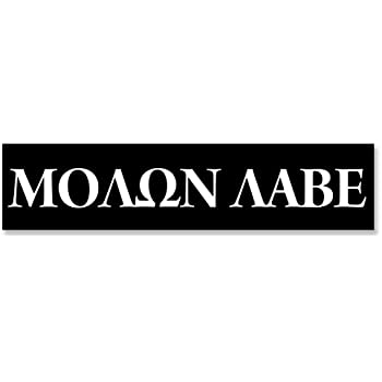 Black molon labe bumper sticker pro gun 2nd rights