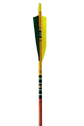 Rose City Archery Port Orford Cedar Fancy Arrows with 3-Inch Length Shield Cut Fletch
