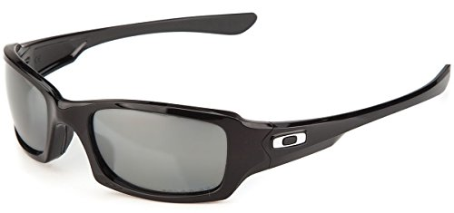 Oakley Men's Fives Squared Sunglasses (Black Frame Polarized Silver Mirror Lens, Black Frame Polarized Silver Mirror - Sunglasses 5 Oakley Polarized