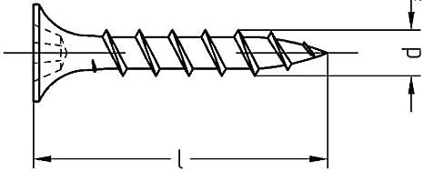 L/änge und Menge w/ählbar Gipsplattenschrauben mit Grobgewinde schwarz 3,9mm 3,9x45mm, 50 St/ück