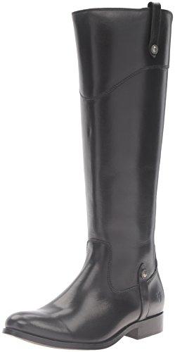 FRYE Women's Melissa Tab Tall Riding Boot, Black, - Frye Melissa Black Boot