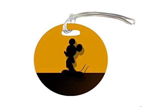 Cute Mouse Silhouette Yellow Design Print Image 4-inch Luggage/Bag Tag by Trendy Accessories