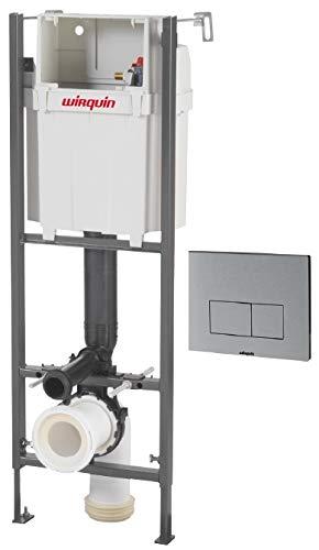 Wirquin pro - Cisterna empotrada con pulsador design aluminio para WC, 0,98-1,17 m Ref.55950018: Amazon.es: Bricolaje y herramientas