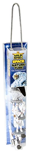 Wild Republic Space Figures Tube, Outer Space Toys, Space Shuttle, Astronaut, Space Station, Apollo Spacecraft, Lunar Rover, Saturn Rocket, Satellites
