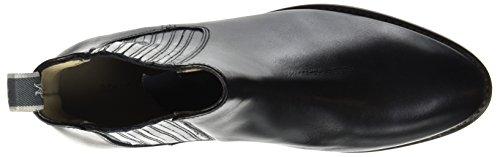 Schwarz Marc 70714155001113 Heel para O'Polo Mujer Botas Black Flat Chelsea PPx8anF