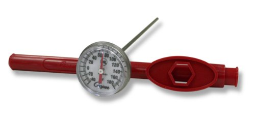 Cooper-Atkins 1246-01-1 Bi-Metal Pocket Test Thermometer with Adjustment Sheath, NSF Certified, -40/180°F Temperature Range