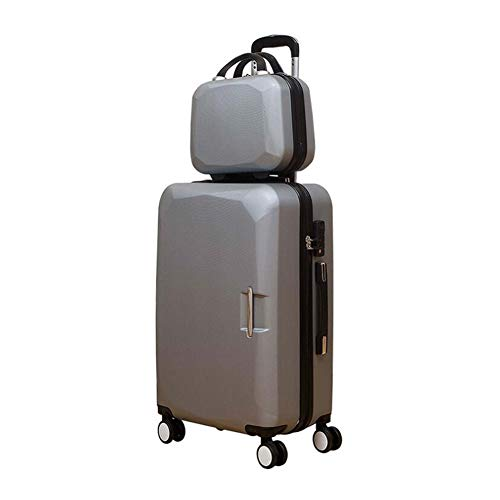 Frosted Hardshell Case - Qzny Cosmetic Case, New Ladies Frosted Cosmetic Holdall Case Fashion Universal Wheel Trolley Case Light Suitcase Cabin Case Hardshell Holiday (Color : C, Size : 352350cm)