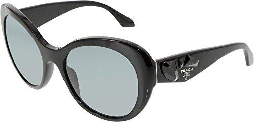 Prada Lunettes de soleil 26Q Pour Femme Black / Dark Grey Noir