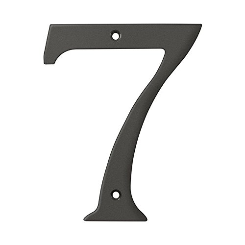 Deltana RN6-7U10B Solid Brass 6-Inch House Number 7 Board (6 Inch Solid Brass Number)