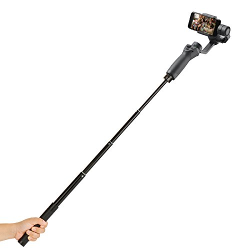 "Extension Rod for Gimbal - YILIWIT 29 inch Adjustable Selfie Stick Compatible with Gimbal Stabilizer DJI Osmo Mobile 2/Feiyu/Zhiyun Smooth Q & 4 and All Gimbles with 1/4"" Thread Handhled Pole"
