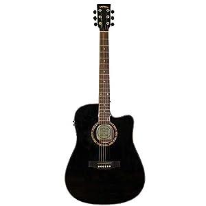 Santana LA-90EQCW-BK v2 Westerngitarre, Schwarz