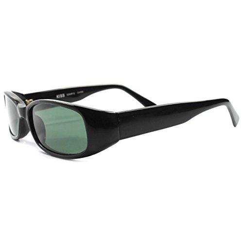 Classic Old Vintage 90s Deadstock Urban Fashion Black Rectangle - Deadstock Sunglasses