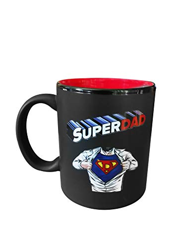 Super Dad Colorful Mug I Fun Superhero Unique Gift Idea - 11oz Cup for Husband, Dad, From Wife, Daughter, Son - Father's Day, Birthday, Christmas, Valentine's Day, Anniversary