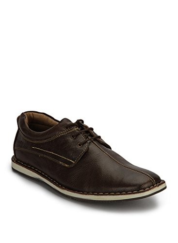 2bd1e37589f Buckaroo Men s Playa Y Brown Leather Sneakers - 11 UK India (45 EU ...