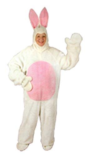 Halco - Bunny Suit Adult Costume - (Plus Size White Bunny Costumes)
