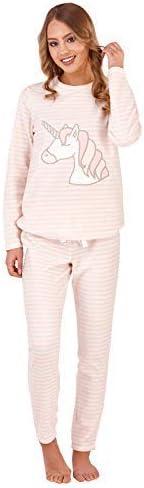 Loungeable de lujo para dama vellón Super Soft Pijamas Juego