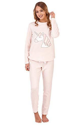 TALLA S (36/38). Loungeable de lujo para dama vellón Super Soft Pijamas Juego